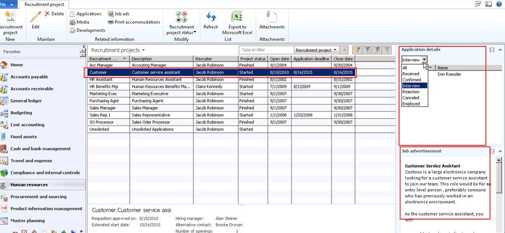 human resource management in microsoft dynamics ax 2012 employee