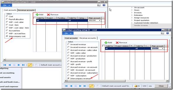 Intercompany Ledger Accounts setup