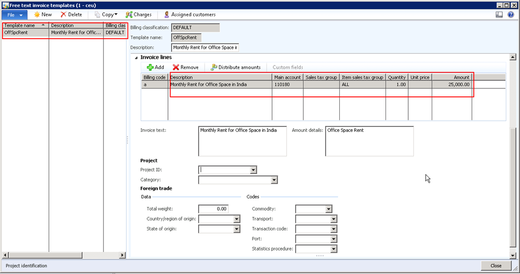 Process Automatic Recurring Free Text Invoices With Microsoft - Accounts receivable invoice template