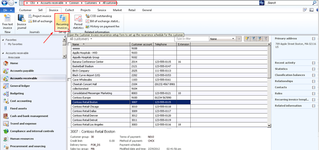 Process Automatic Recurring Free Text Invoices With Microsoft - Process server invoice template
