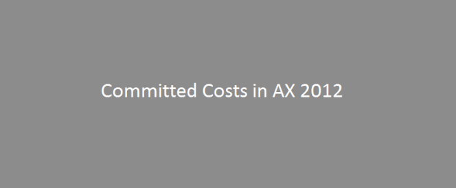 Committed Costs in Project Management in Microsoft Dynamics AX2012