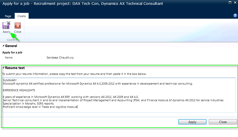 Managing recruitment and Posting Open jobs in Enterprise portal in Dynamics AX 2012  Dynamics