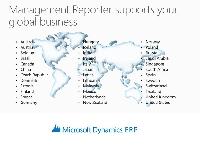 Management Reporter now supports your global business in 36 languages