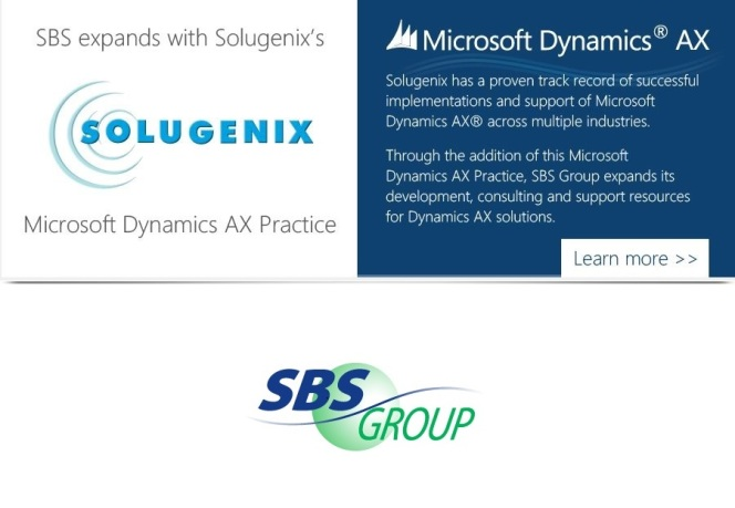 SBS Group, USA Expands with Solugenix's Dynamics AX Practice
