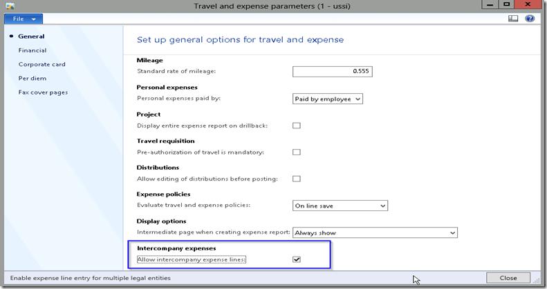 Travel U0026 Expense Paramter AX 2012  Microsoft Expense Report
