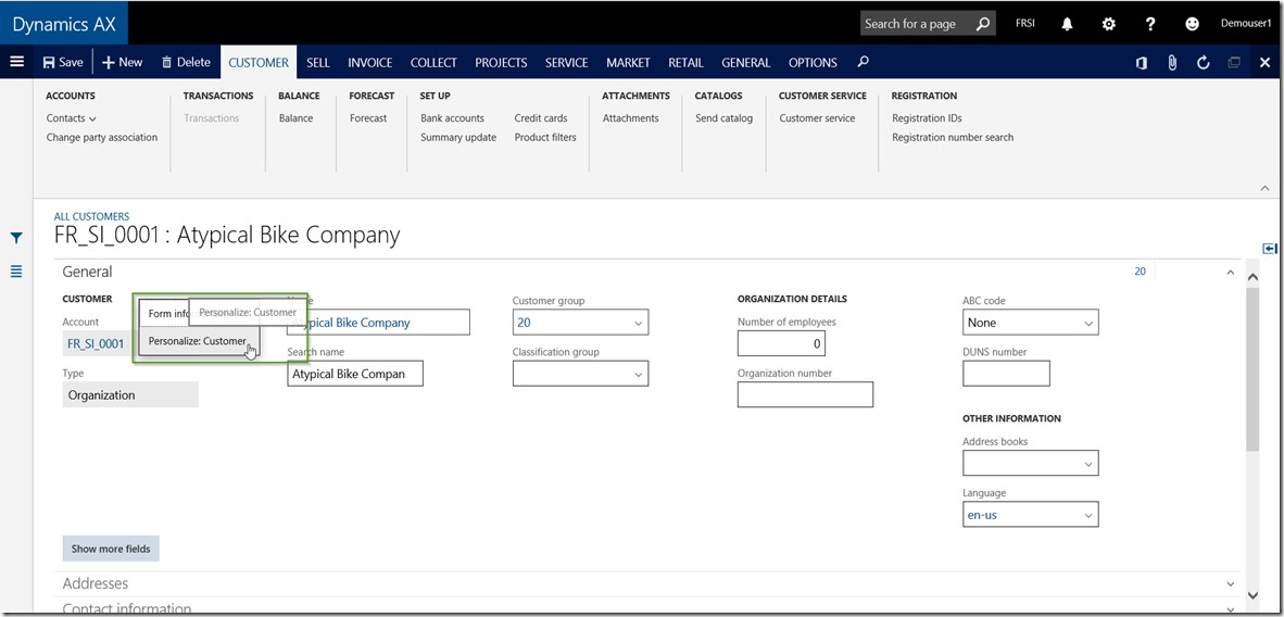 Dynamics AX Tip: How to Personalize forms and workspaces in