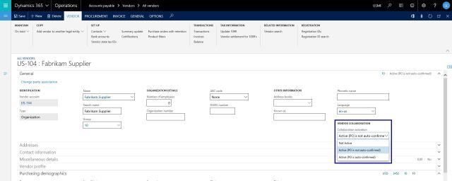 Vendor Self-service portal and Vendor collaboration in Dynamics 365 For Operations
