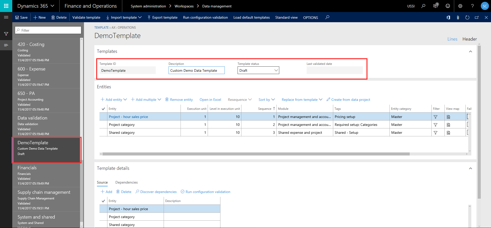 Data Templates | Dynamics 365 For Finance and Operations Blog