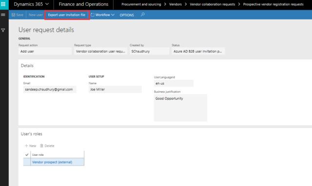 Manually Export User Invitatio File