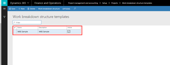 Data import related error when importing Project work breakdown