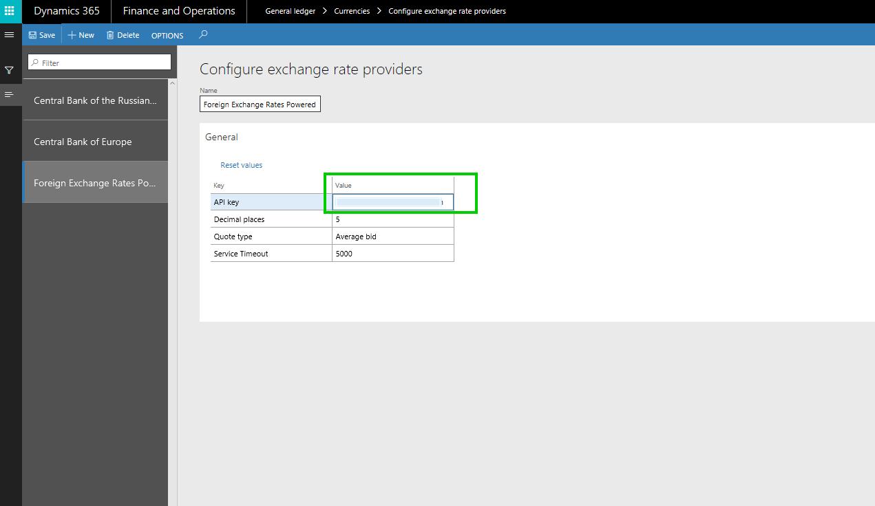 Setup API Key on Provider