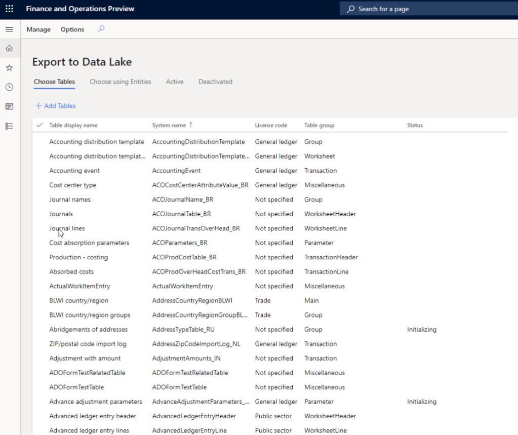 Azure 数据湖(2代)与Dynamics 365的财务和运营集成 / Azure Data Lake(Gen2) integration with Dynamics 365 for Finance and Operations